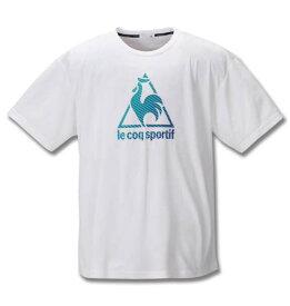 大きいサイズ メンズ LE COQ SPORTIF サンスクリーン ピンメッシュ 半袖 Tシャツ ホワイト 1278-0230-1 2L 3L 4L 5L 6L