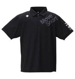 大きいサイズ メンズ DESCENTE サンスクリーン 半袖 ポロシャツ ブラック 1278-0212-2 3L 4L 5L 6L