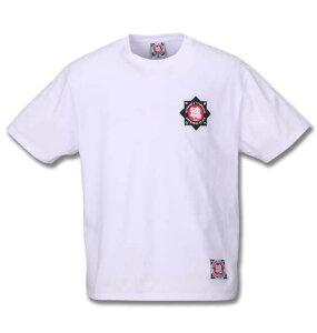 大きいサイズ メンズ 魂 花札絵デザイン 半袖 Tシャツ ホワイト 1268-0280-1 3L 4L 5L 6L 8L
