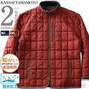 大きいサイズ メンズ KANSAI YAMAMOTO ブロック キルト 中綿 ジャケット 撥水加工 秋冬新作 2l056k