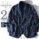 【送料無料】【大きいサイズ】【メンズ】[2L・3L・4L・5L・6L]DANIEL DODD インディゴチェックシャツジャケット azsh-150135j