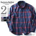 【大きいサイズ】【メンズ】SARTORIA BELLINI 長袖起毛チェックボタンダウンシャツ azsh-160416