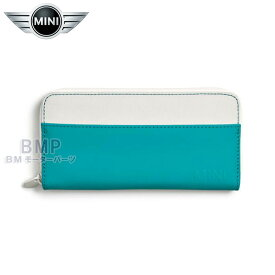 【BMW MINI 純正】MINI COLLECTION MINI ウォレット ホワイト/アクア 財布 長財布