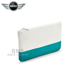 BMW MINI 純正 MINI COLLECTION スモール ポーチ ホワイト アクア コレクション