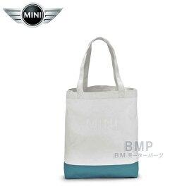 【BMW MINI 純正】MINI COLLECTION MINI ショッピング・バッグ ホワイト/アクア