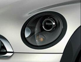 "BMW MINI R56/R57/R55/R58/R59用 ヘッドライト・リング ""ジェット・ブラック"" 左右セット"