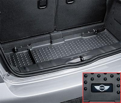 "【BMW MINI 純正】MINI フロアマット MINI R56(ハッチバック) R58/R59(Coupe/Roadster) ラバー・ラゲージルーム・マット ""MINIロゴ"""