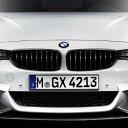 【BMW純正】BMW F32/F33/F36 4シリーズ BMW M Performance ブラック・キドニー・グリル セット