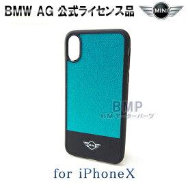 0a35653336 BMW MINI iPhoneX iPhoneXS ケース ナイロン ハード ケース アクア MINYHCPXGR