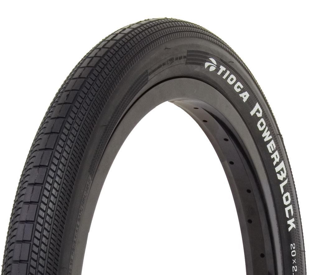 TIOGA - POWERBLOCK TIRE スチールビード 1.75/1.95 BMX フラットランド タイヤ タイオガ パワーブロック 軽量タイヤ