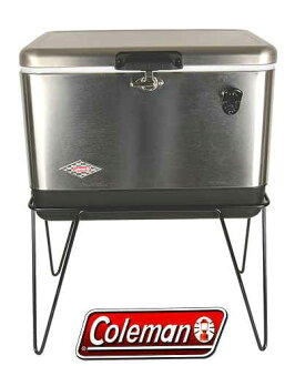 ♦ Japan 未発売 products ♦ stand with opener with ♦ ♦ COLEMAN ♦ 54 QT ♦ STAINLESS ♦ STEEL BELTED COOLER ♦ Coleman ♦ stainless steel finish ♦ 05P28Sep16