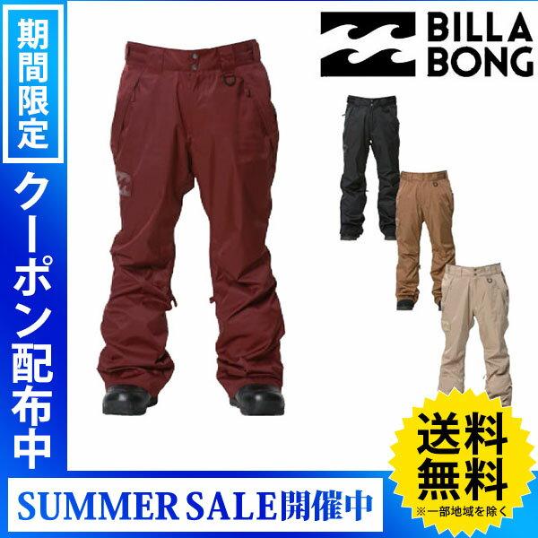 【送料無料】【あす楽対応】16-17 BILLABONG / ビラボン STANDARD pants ウエア パンツ メンズ スノーボードウェア 2017 型落ち