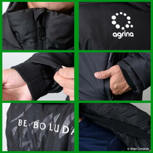 アグリナ/agrina_ag-0240_リヘロッサモノ中綿ハーフコート〜フットサルウェア