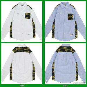 ダウポンチ/dalponte_dpz-rx50_カモ柄長袖オックスフォードシャツ〜フットサルウェア
