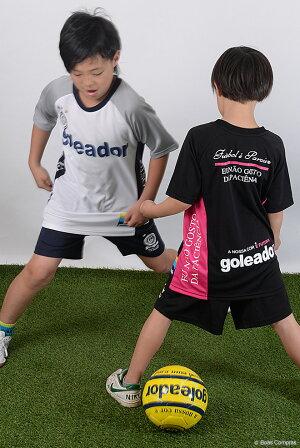 ゴレアドール/goleador_キッズサイドメッセージプラシャツ〜フットサルウェア