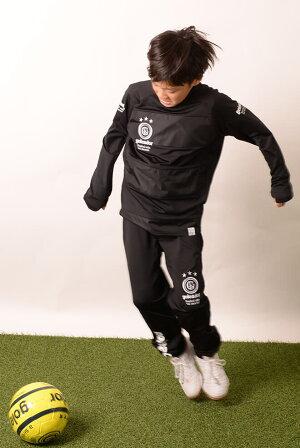 ゴレアドール/goleador_ジュニア裏起毛スムースハイネックピステボーダープラシャツ上下セット〜フットサルウェア