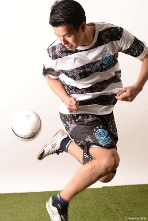 ゴレアドール/goleador_バンダナ柄ボーダープラTシャツ上下セット〜フットサルウェア