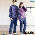 スパッツィオ/spazio_裏メッシュコラージュ柄ピステシャツ上下セット〜フットサルウェア