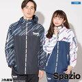 スパッツィオ/spazio_ダイアゴナルストライプクロスパーカー〜フットサルウェア