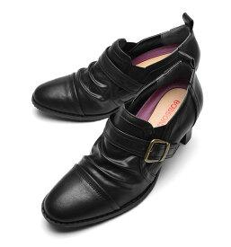 『BOBSON ボブソン』レディース・靴・カジュアルシューズ・トラッドシューズ・ヒール 約6.0cm・22.5/23.0/23.5/24.0/24.5サイズ・オフィスシューズ・通勤・ブラック・ダークブラウン・婦人靴・丸大・bol6006・BOBSON・ボブソン