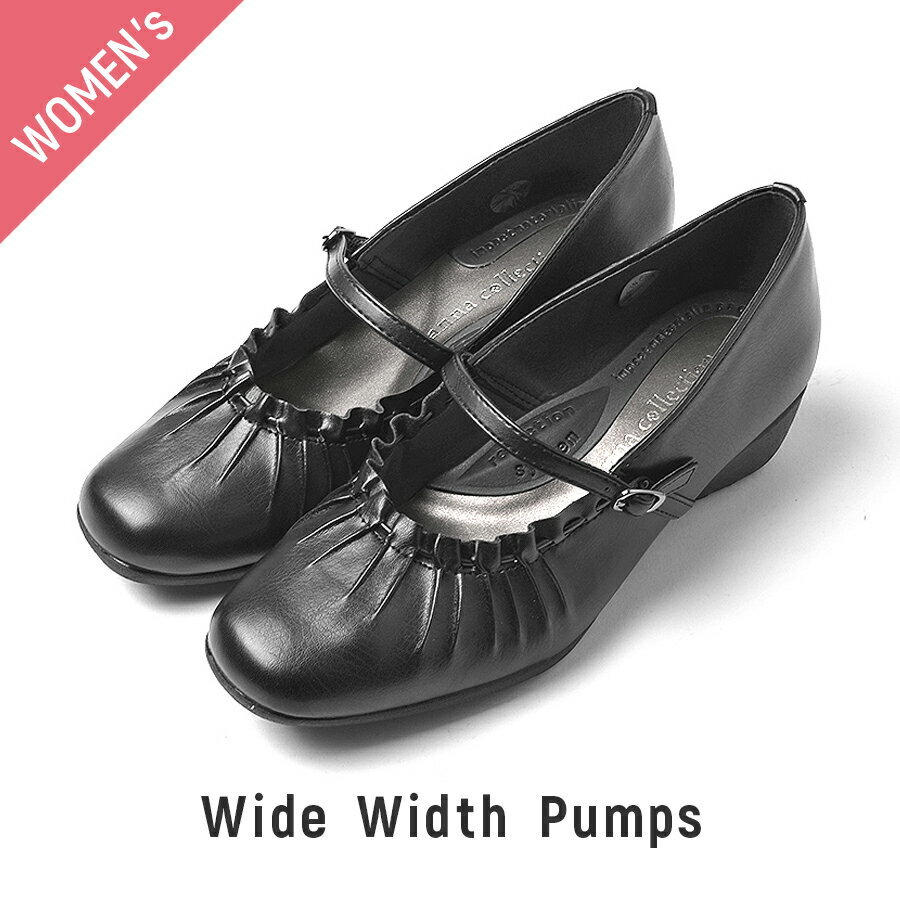 [特価品]【レディース パンプス】 靴 シューズ LADIES 22.0/22.5/23.0/23.5/24.0/24.5cm anna collection 軽量 レディース パンプス
