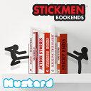 マスタード【Mustard】STICKMEN BOOKENDS M16021 スティックマン ブックエンド 本立て おもしろ雑貨【あす楽】