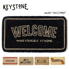 キーストーン【KEY STONE】(IN0491) ウェルカムコイヤーマット 玄関マット WELCOMA MAT ナチュラル カフェ おしゃれ【あす楽】