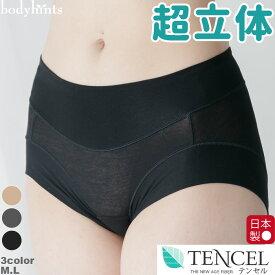 超立体ショーツ らくらくテンセル 裾口ピタっとずり上がらない 超立体ショーツ やや浅穿き ショート丈 日本製 敏感肌 インナー inner