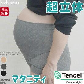 超立体マタニティショーツ らくらくテンセル 裾口ピタっとずり上がらない 超立体 マタニティ ショーツ 妊婦 パンツ ハイウエスト 腹巻 日本製 敏感肌