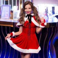 クリスマスコスプレサンタコスストッキング赤リボンセクシーサンタクロースクリスマス