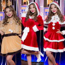選べる サンタ コスプレ サンタコス クリスマス サンタクロース コスチューム 衣装 大きいサイズ 長袖 半袖 コス セク…