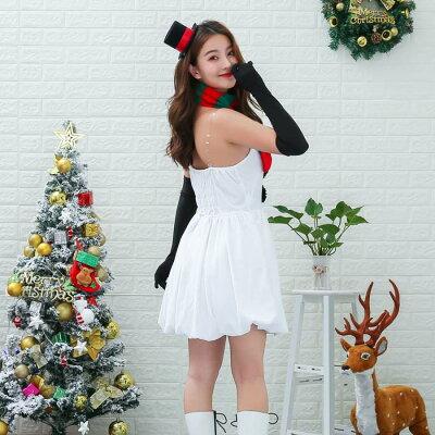 2019xmasスノーガールクリスマスイベントコスチュームコスチュームコスプレサンタクロースサンタ雪だるまハロウィンコスプレ