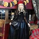 ゴーストブライドショールドレス 魔女 ドラキュラ ハロウィン コスプレ コス ブライド ドレス 花嫁 黒 かわいい 衣装 …