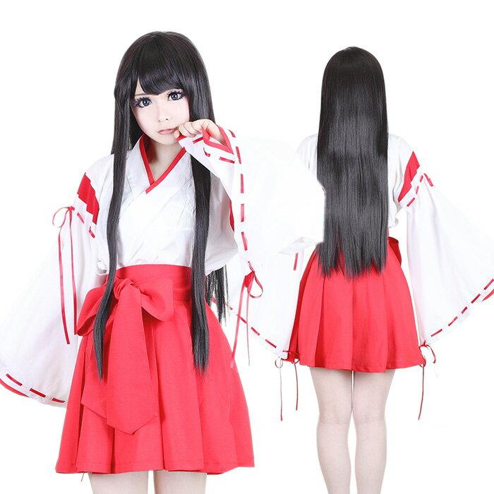 巫女 2点セット M〜4Lサイズあり costume250【dl_bodyline】 衣装