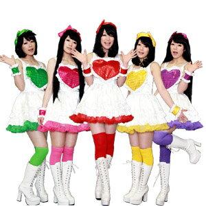 キャラクター コスプレ コスチューム S〜4Lサイズあり 4点セット 全6色展開 costume596 衣装