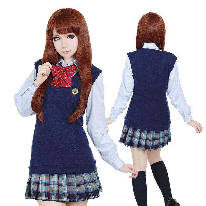 ハロウィンコスプレ 制服 コスプレ 制服 女子高生 4点セット costume729 衣装