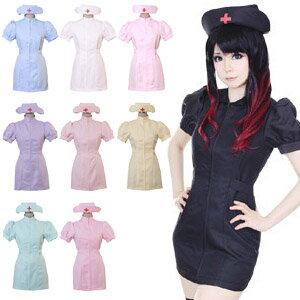 女医 ナース 2点セット M〜2Lサイズあり 全9色展開 costume739 衣装