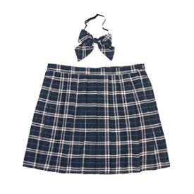スクールスカート コスプレ 女子高生 通学 大きいサイズ プリーツ プリーツスカート セーラー服 制服 女子高生 ブレザー 6L〜8Lサイズあり 2点セット costume810 衣装