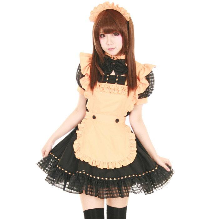 ハロウィン カップル コスプレ メイド コスチューム コスプレ メイド 衣装 アリス 大人用 ロリータ M〜2Lサイズあり 4点セット costume859 衣装
