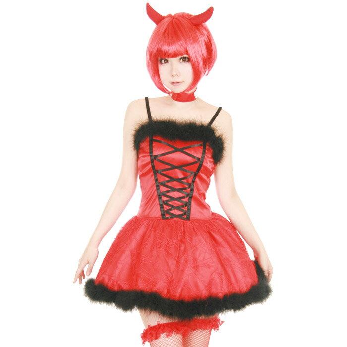 レッドデビル 3点セット M〜Lサイズあり costume868【dl_bodyline】 衣装