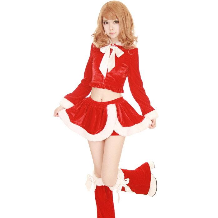 【Mフリー】 サンタコスチューム コスプレ クリスマス セクシー衣装 3点セット costume874 衣装