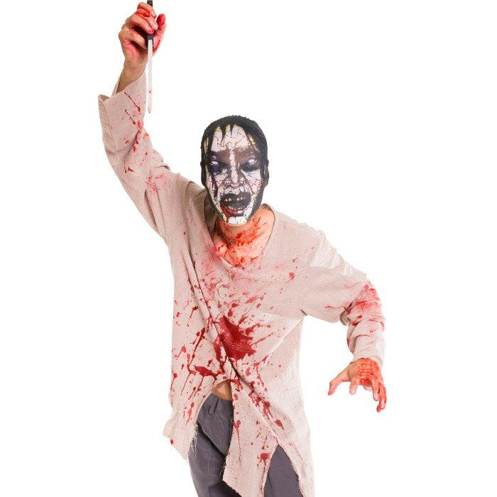 ゾンビ コスプレ メンズ 男性用 マスク M〜Lサイズあり 4点セット costume900 衣装