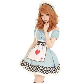 アリスメイド コスプレ メイド 衣装 アリス 大人用 ロリータ M〜2Lサイズあり 3点セット costume918 衣装