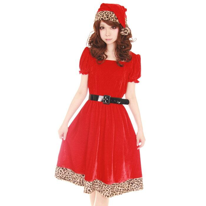 【Mフリー】 ドレッシーサンタ コスプレ クリスマス セクシー衣装 3点セット costume945 衣装