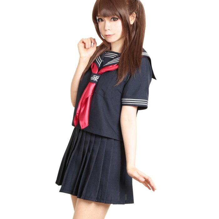3点セット 日比谷女子高制服 学園祭 文化祭 コスプレ 余興 S〜2Lサイズあり こすぷれ はろういん costume980 衣装