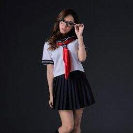 ハロウィン コスプレ セーラー服 衣装 セーラー コスチューム一式 制服 レディース 制服 セーラー JK 女子高生 清楚 スカート セット コスチューム 一式 あす楽