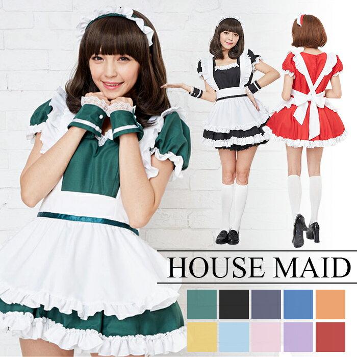 コスプレ メイド服 ベロニクメイド 衣装 コスチューム一式 アリス 大人用 M〜2Lサイズあり 7色展開 4点セット セクシー こすぷれ costume412 衣装