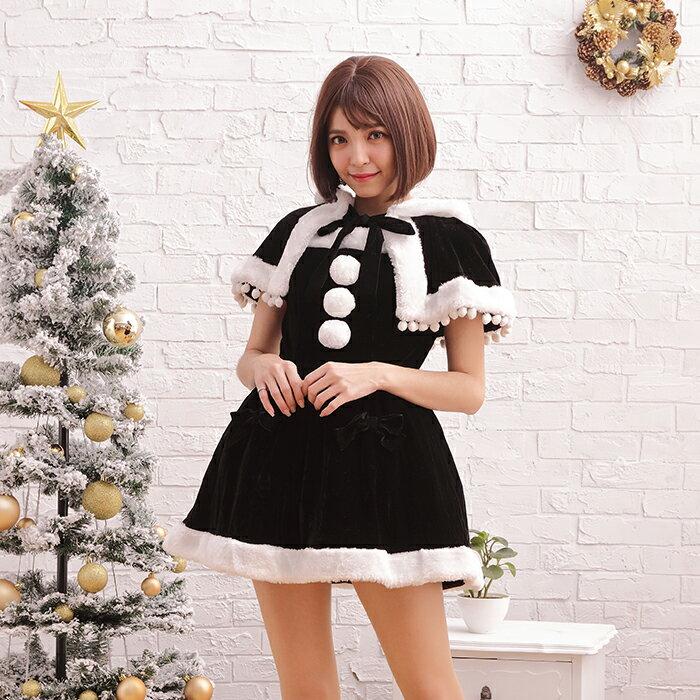 サンタコスチュームラブリーフード コスプレ クリスマス セクシー衣装 M〜2Lサイズあり 5色展開 2点セット costume459 衣装