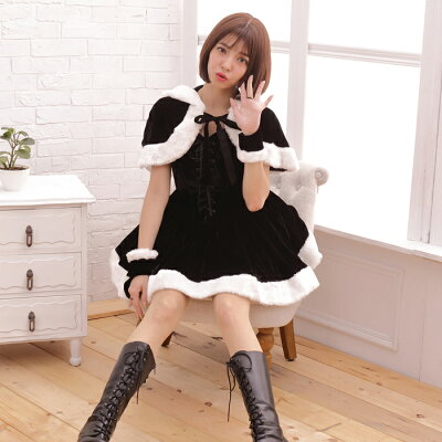 サンタコスチュームコスプレクリスマスセクシー衣装M〜Lサイズあり4色展開3点セットcostume630衣装