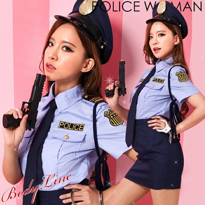 コスプレ ポリス 6点セット 【7月おすすめ】 M〜4Lサイズあり 警察 警官 婦警 制服 コスチューム一式 こすぷれ はろういん costume723 衣装